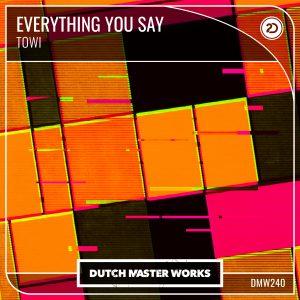 TOWI-Everything U Say artwork